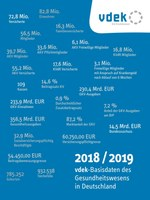 """Broschüre """"vdek-Basisdaten des Gesundheitswesens 2018/2019"""" erschienen"""